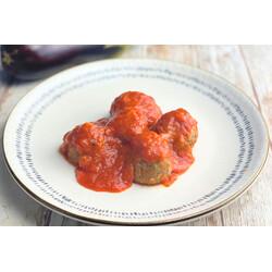 Albóndigas de Berenjena en Salsa de Tomate