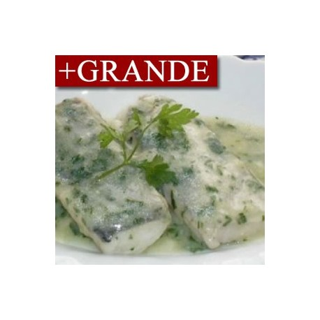 Mero en Salsa Verde con Menestra GRANDE