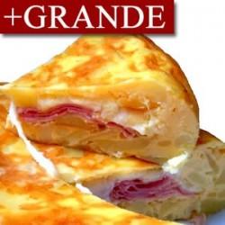 Tortilla de Patatas Rellena de Jamón York y Queso cremoso +GRANDE