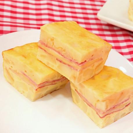 Tortilla de Patatas Rellena de Bacon y Queso