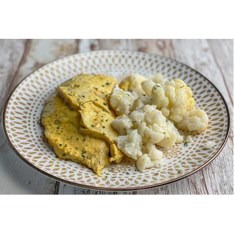 Pavo al Curry y Coliflor